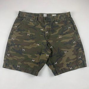 Gap Camo Beagle Embroidered Chino Shorts 36